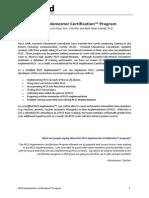 PECS Implementer Certification Introduction A4