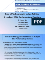 Dhirendra Patel Role of Technology in 2014 Indian Election