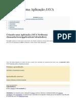 Como Criar uma Aplicação JAVA NetBeansA.docx