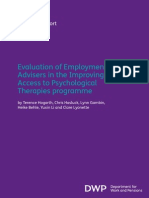Evaluation of Employment in IAPT