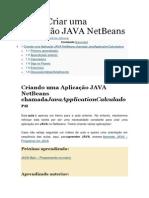 Como Criar uma Aplicação JAVA NetBeans.docx