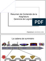 Slides de Resumen de Clase Logistica Para Maestria Calidad INTEC