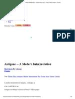 Antigone -- A Modern Int...Ays, Antigone - Booksie