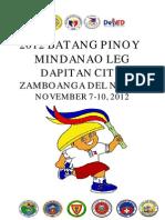 2012 Batang Pinoy Mindanao Leg Results Compilation for LGUS