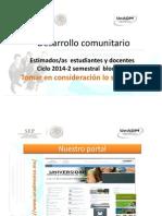 Avisos Docentes Estudiantes Ciclo 2014-2Semestral Bloque 1 05082014