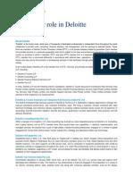 Deloitte US India Risk Analytics B-School Internship Job Description