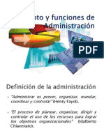 Concepto y Funciones de Administración
