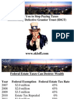 Stop Paying Taxes - Intentionally Defective Grantor Trust (IDGT) - Aaron Skloff, AIF, CFA, MBA - CEO Skloff Financial Group
