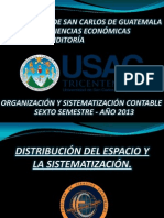 Distribución Del Espacio y La Sistematización Grupo 9