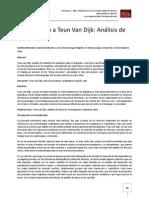 Introducción a Teun Van Dijk - Análisis Del Discurso