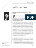 Jaw and Accoustic Laws