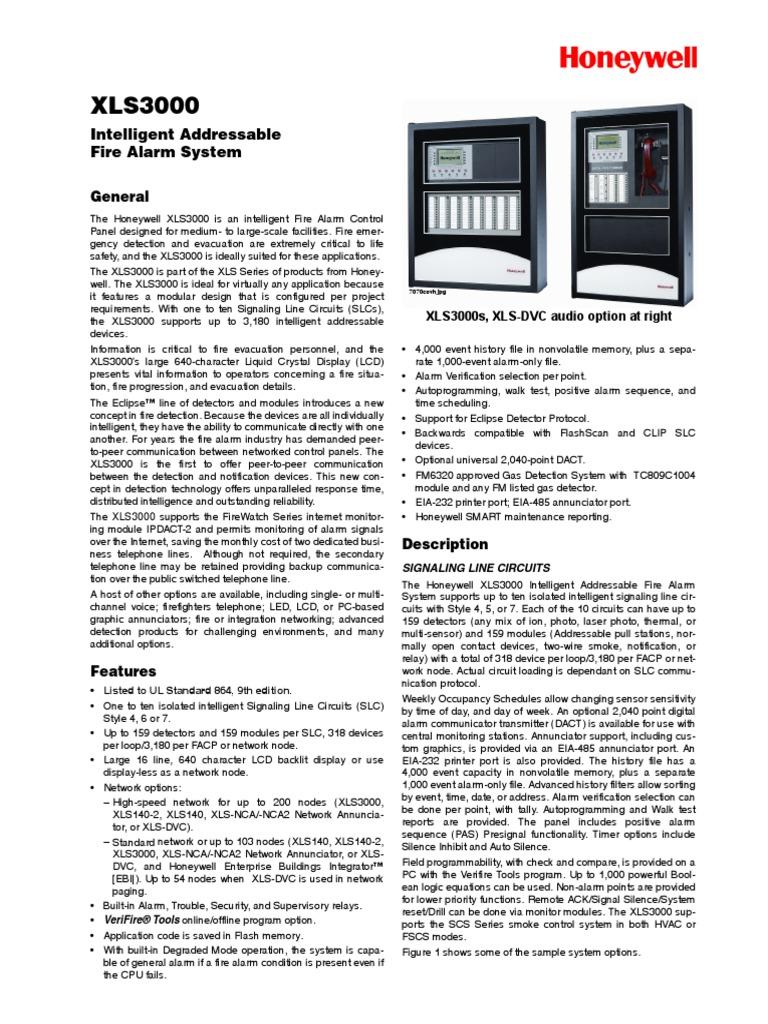xls3000 specsheet telephone sensor rh scribd com Honeywell 6160 User Manual Honeywell Ademco 6150 User Manual