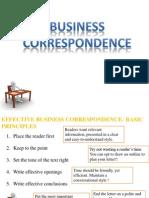 Business Correspondance Letter