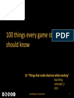 100 Things Every Game Student Should Know