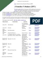 Atlas Des Zones Franches Urbaines (ZFU)