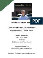 Charlie Breakfast Flyer