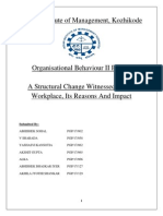 Structural Change in Organisations