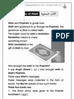 Grade 1 Islamic Studies - Worksheet 2.4.1 Iman - The Books of Allah (Pt 1)