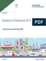 IGM Estadistica Poblacional 2012