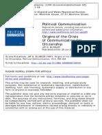 Blumler Origins of the Crisis Communication for Citizenship