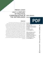 Brants & Van Praag 2006 Signs of Media Logic Half a Century of Political Comm in NL