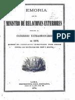 Insinuaciones de Chile Contra La Integridad Territorial Del Peru