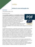 ConJur - O Jurista e Os Limites à Concretização Do Direito