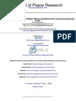 Robinson Policy-media Interaction Model_measuring Media Power During Humanitarian Crisis_2000