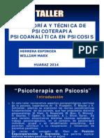 05 Taller de Psicoterapia Dinamica en Psicosis Herrera Espinoza William