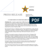 Secret Service Press Release - Sept. 20, 2014