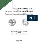 DOJ/FTC Intellectual Property Antitrust Report 2007