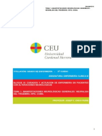 Tema 1 Manifestaciones Neurológicas Generales. Neurálgia Del Trigémino. Hpic. Coma.
