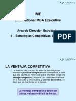 Tema 5 - Estrategias Competitivas Genericas IME