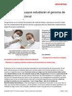 Cientificos Uruguayos Estudiaran Genoma Poblacion Nacional