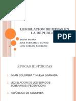 Legislacion de Minas en La Republica