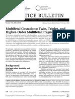 Practice Bulletin No 144 Multifetal Gestations .40