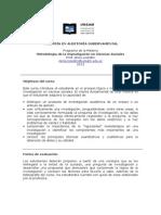 Programa Metodologia de La Investigación Lissidini 2013