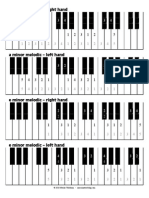 Scale Fingerings Minor-Melodic