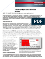 DC Motor Selection for Dynamic Motion Control Applications