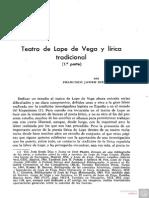 Teatro de Lope de Vega y Lirica Tradicional