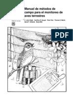 Manuale de Métodos de Campo Para El Monitoreo de Aves Terrestres