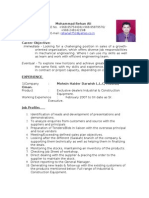 Post Applied for-Sales & Marketing