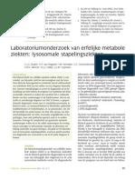 Ruijter (2010) Laboratoriumonderzoek Van Erfelijke Metabole Ziekten Lysosomale Stapelingsziekten