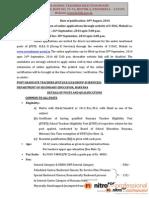 Notification HSTSB PGT Posts1