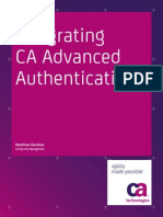 Integrating CA Advanced Authentication w Sm