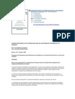 Análisis Descriptivo de Los Relatos Escritos de Una Población Afectada Por Un Desastre