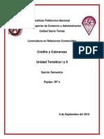 Crédito y Cobranzas Unidad 1 y 2 El Crédito y Políticas de Crédito (FINAL)
