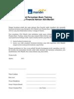 Surat Pernyataan Basic Training AXA Mandiri