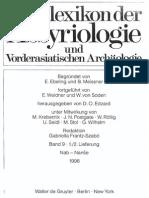 Reallexikon Der Assyriologie Und Vorderasiatischen Archäologie (Vol. 9)
