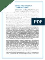 Diferendo Perú Chile en La Corte de La Haya